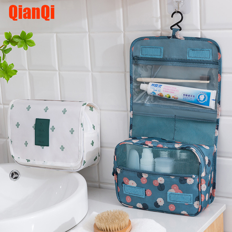 Women Makeup Bags Toiletries Organizer Cosmetic Bag Handbag Foldable Portable Hanging Cosmetic Finishing Package