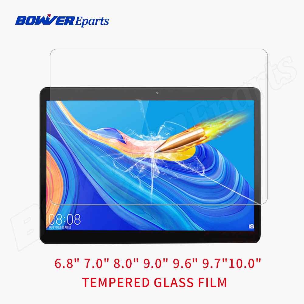 Universal 9H Tempered Glass Film For 10.1 10.0 9.6 9.0 8.0 7.0  Inch Tablet Tempered Glass Screen Protective Film