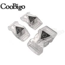 2 Pcs Kleurrijke Light Glow Veiligheid Side Release Verstelbare Gespen Voor Rugzak Riem Riem Kledingstuk Halsband Webbing Onderdelen