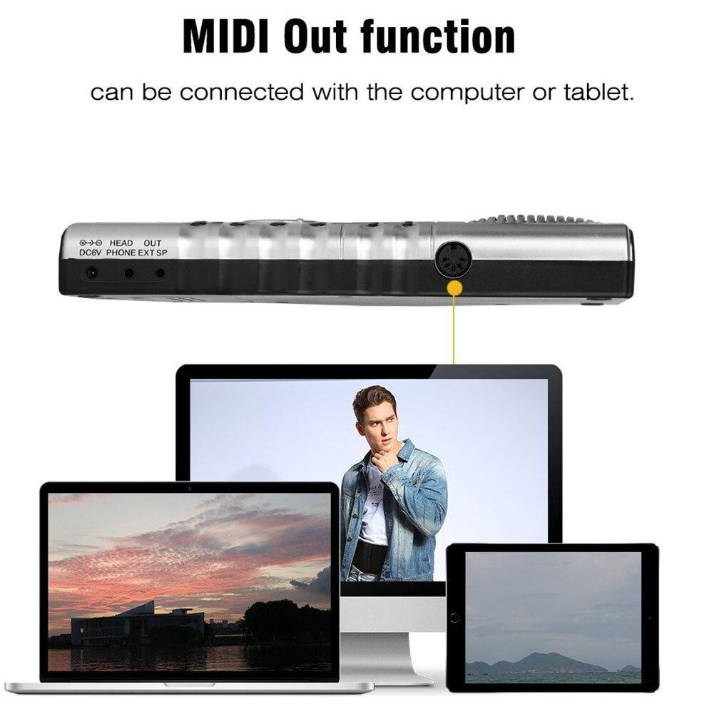 Enregistrement électronique clavier jouets enroulable Piano USB MIDI Instrument de musique cadeau 61 touches musique enfants
