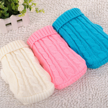 Pet sweater cute dog cat warm sweater coat autumn and winter wool pet dog clothes suitable for large and small dog chihuahuas
