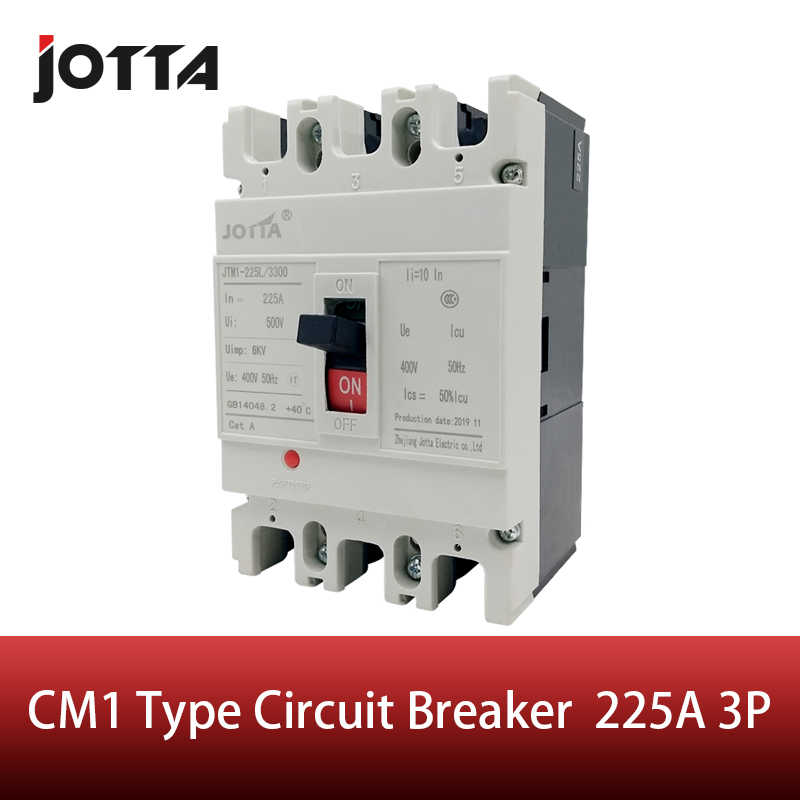 225 Amp 3 pole cm1 type Moulded case type circuit breaker mccb