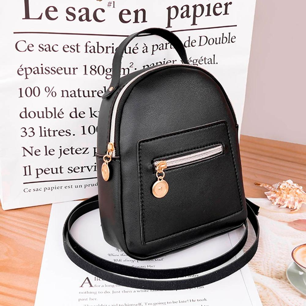 Mini Backpack Women PU Leather Shoulder Bag Teenage Girls Multi-Function Small Bagpack Female Ladies School Backpack женские#50