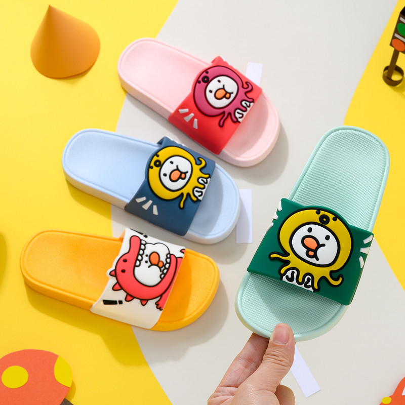 2020 Indoor Slippers For Kids Summer Casual Non-Slip Slippers Boys House Flip Flops Girls Cartoon Duck Home Slippers Pantuflas