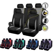 Full Set Universal Car Seat Covers Interior Accessories Seat Protectors for volkswagen peugeot 206 passat b6 цена 2017