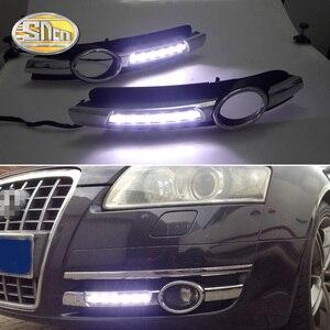 Image 1 - For Audi A6 C6 2005 2006 2007 2008 No error Daytime Running Light LED DRL fog lamp Driving Lamp