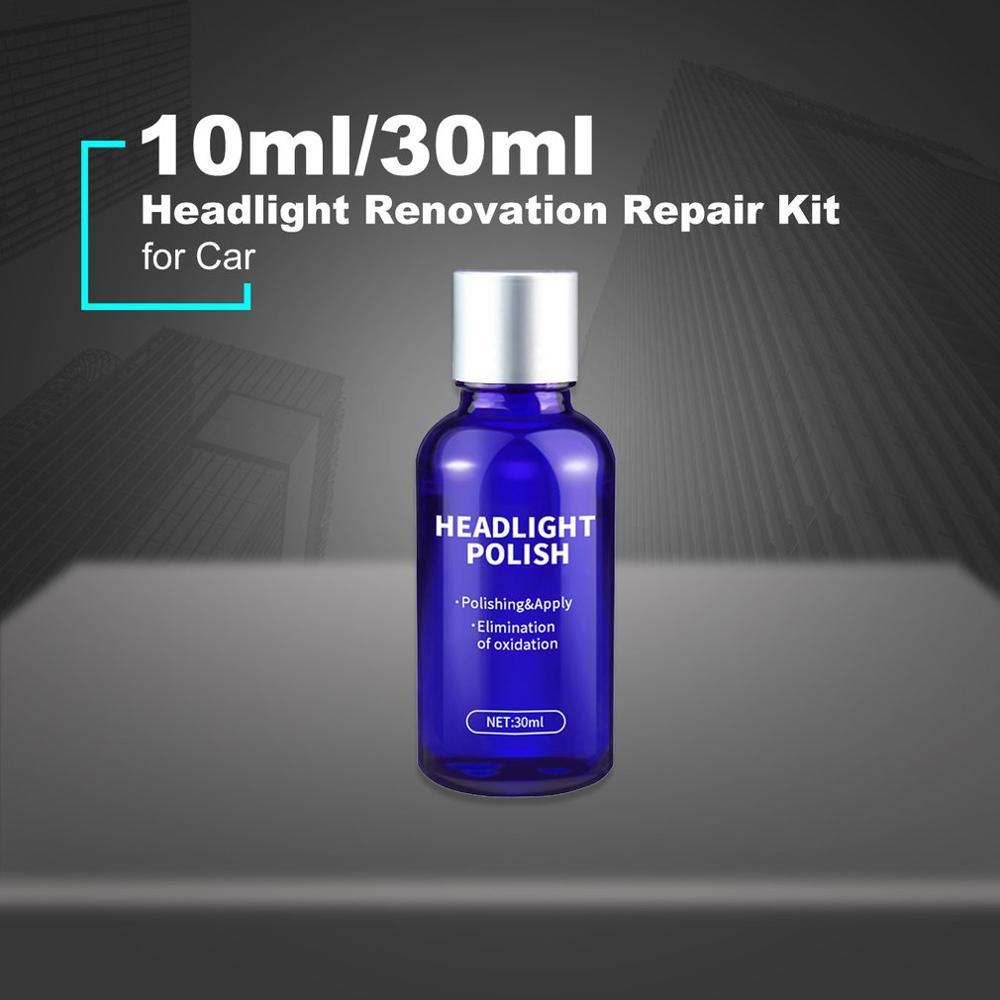 Car Headlight Renovation Repair Kit Repair Spray Polishing Coat Repair Car UV Lights Polishing Tool Headlight Cleaning