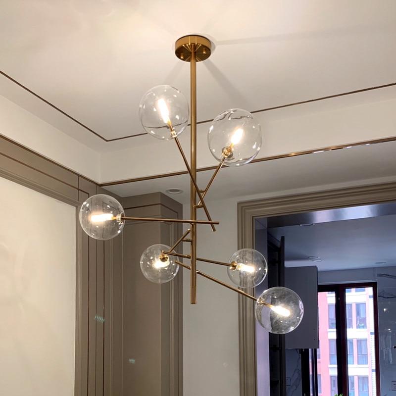 cheapest Europe Modern Creative Concise Style Glass Pendant Light Glass Bubbles Study Livingroom Restaurant Cafe Decoration Lamp