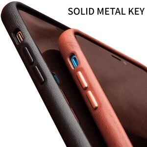 Image 3 - QIALINO hakiki deri ince telefon iPhone için kılıf 11/11 Pro moda saf el yapımı anti vurmak arka kapak iPhone 11 Pro Max