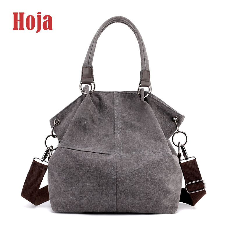 New Fashion Canvas Women Bags Shopping Vintage Women Handbags Large Capacity Women's Shoulder Bag High Quality Casual Tote Bag