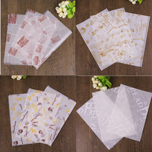 50 Pcs/Lot Food Grade Grease Paper Wrappers Wrapping Paper For Bread Sandwich Burger Fries Oil Paper Baking Tools printing wrapping wax paper soap gift book waxed packing paper food grade rice paper