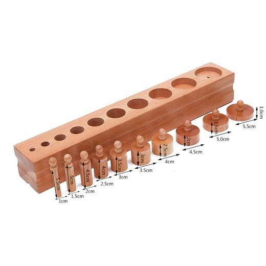 Bloque de cilindros de material montessori (Juego de 4) de juguete - 6