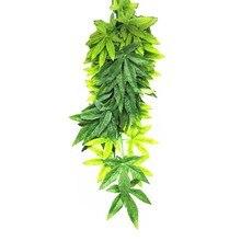 12 дюймов зоотовары для рептилий DIY поддельные Висячие искусственное растение Реалистичная искусственная лоза с всасыванием орнамент чаши декоративные