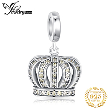 JewelryPalace 925 Sterling Silver Royal Crown Beads Charms Original Fit Bracelet original Jewelry Making