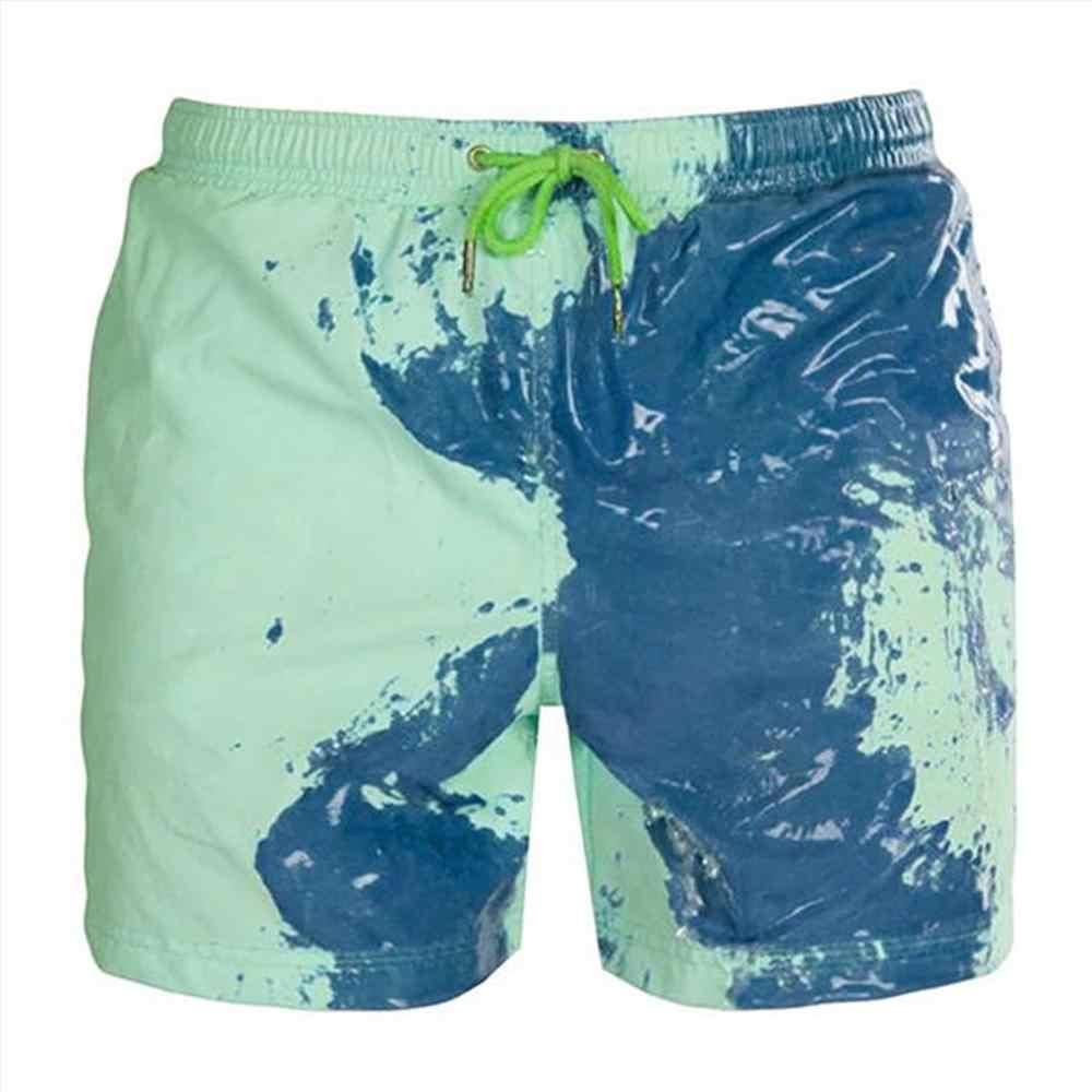 الوان متغيرة شورتات للبحر الرجال سريعة الجفاف ملابس السباحة بناطيل الشواطئ السباحة لوح التزلج شورت دافئ الوان متغيرة شورت