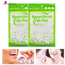50pcs/lot Dental Flosser Oral Hygiene Dental Sticks Dental Water Floss Oral Teeth Pick Tooth Picks ABS Floss with Portable Case(China)