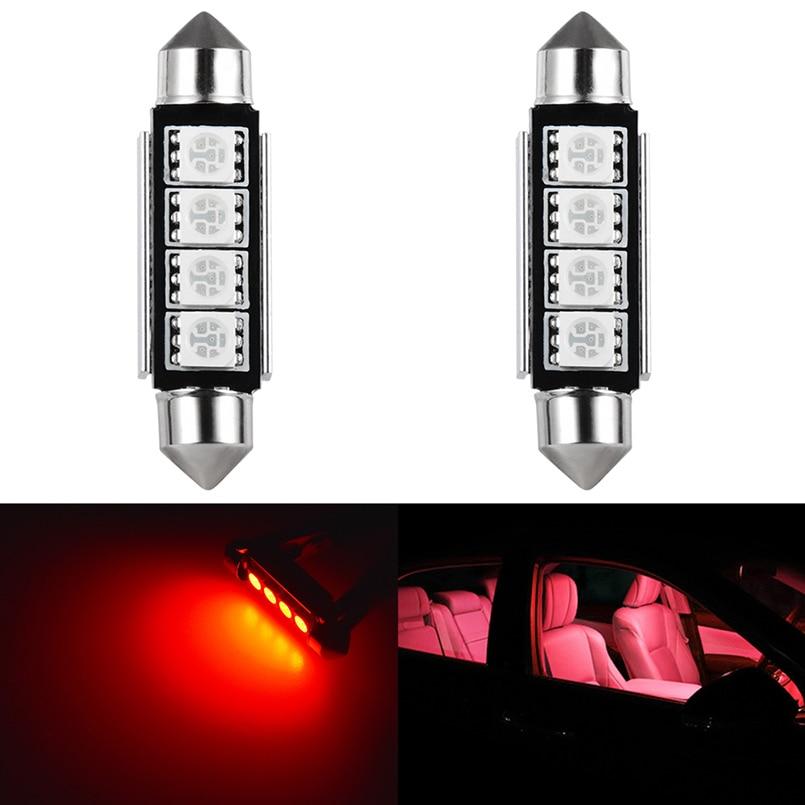 2шт C5W C10W светодиодные лампы Canbus без ошибок 41 мм 42 мм светодиодное освещение фестонного типа для автомобиля купольный светильник для чтения ...