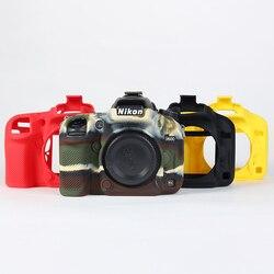 Приятный мягкий зеркальный фотоаппарат Камера сумка Силиконовый чехол резиновая Камера чехол для Nikon D7200 D7100 D610 D600 D5300 D750 D3400 D5500 D810 D7500
