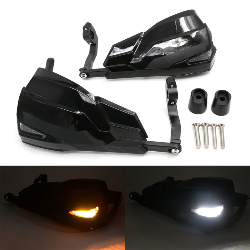Motorcycle Handguards Hand Guard Protection Light Turn Signal <font><b>led</b></font> For <font><b>BMW</b></font> R1200GS LC ADV <font><b>R1200R</b></font> F800R F800GS F700GS F650GS image