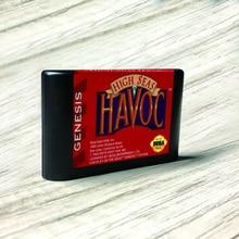 High Seas Havoc   USA Label Flashkit MD Electroless Gold PCB Card for Sega Genesis Megadrive Video Game Console