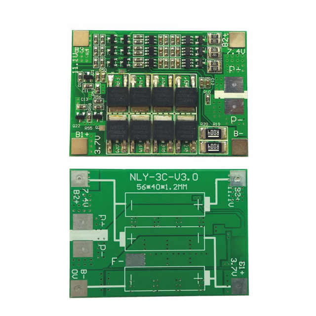 3S 40A BMS 11.1V 12.6V 18650 lithium battery protection Board with balanced Version for drill Motor 40A current 2