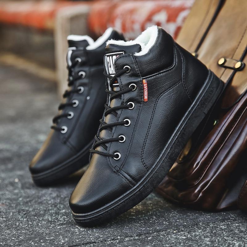 Ботинки мужские кожаные уличная модная Водонепроницаемая повседневная