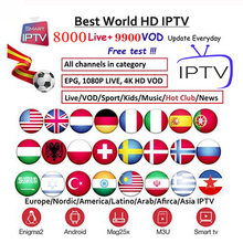 Full HD world europe IPTV Subscription adult iptv French Spain Sweden brazil tv box android tv box Ssmart iptv m3u iptv box(China)