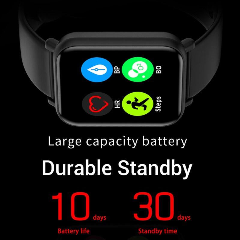 lowest price Smart Watch R7 Women Man Heart Rate Blood Oxygen Pressure Bracelet IP68 Sport Fitness Tracker SmartWatch For IOS Android VS P8