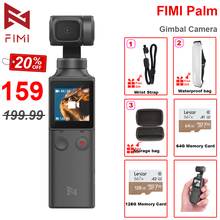 FIMI PALM 3 axis Handheld Gimbal Camera Stabilizer 128 Degree Wide Angle 4K UHD Micro Built in Wi Fi Bluetooth Control 240mins
