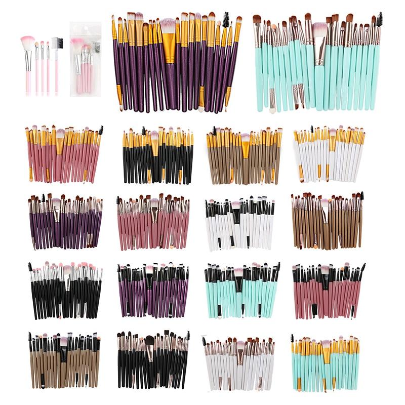 20PCS Makeup Brushes Set Eye Shadow Foundation Powder Eyeliner Eyelash Lip Make Up Brush Cosmetic Beauty Tool Kits