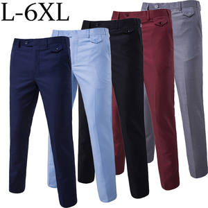 Pants Trousers Stretch Office Baggy Summer Spring Long-Dress Business Male Straight Thin