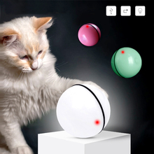 pet Persian cat toy LED luminous ball USB charging smart funny automatic rolling laser for small medium dogs light