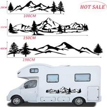 ใหม่สติกเกอร์รถกันน้ำ150ซม.ต้นไม้ภูเขารถตกแต่งสติกเกอร์สัตว์เลี้ยง Auto Decal สำหรับ SUV RV Camper Offroad อัตโนมัติแฟชั่น Decal