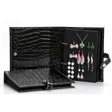 UnionPlus Croco Faux Leather 4-Page Earrings Jewelry Organizer Book(Large) jn 17171003 page 4