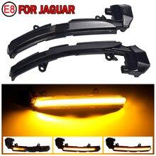 Fit için Jaguar XE XF XJ F TYPE XKR I PACE X250 X260 araba aksesuarları dinamik dönüş sinyal ışığı LED yan ayna göstergesi flaşör