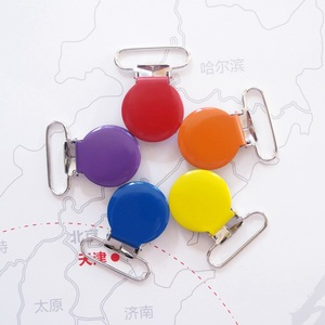 Image 3 - Sutoyuen 150pcs 1 25mm 15 Colors Metal Assorted Enamel Round Suspender Clips Baby Pacifier Clip Man \ Dummy Clip