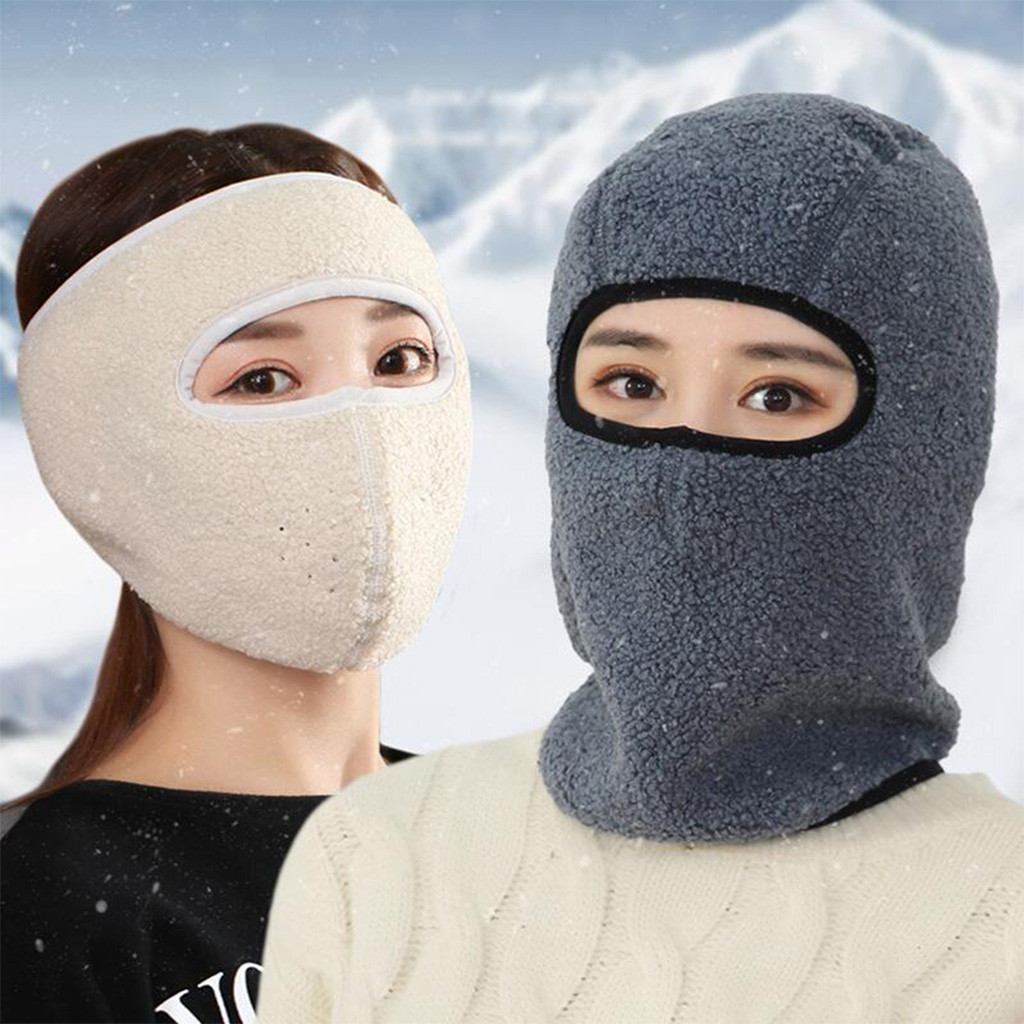 Unisex Thick Full Face Mask  Anti Haze Dust Washable Reusable Dustproof Mouth-muffle Outdoor Winter Warmer Cotton Mask