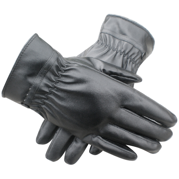 Winter Thermal Lined Driving Smart Warm Soft Leather Gloves Button Fasten