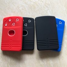 Сменный силиконовый чехол для ключа-брелка для Mazda 5 6 8 M8 MPV CX7 CX9 RX8 Miata MX5, защитный чехол для ключа с 4 кнопками, смарт-карта