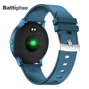 Image 2 - חדש Battiphee Smartwatch KW13 AMOLED HD מסך Ultra בהיר צבע צמיד להקת ארוך זמן המתנה ספורט מצב קצב לב צג