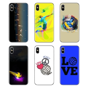 Soft Shell Cases Girls Sports Peace Love Volleyball For iPod Touch Apple iPhone 11 Pro 4 4S 5 5S SE 5C 6 6S 7 8 X XR XS Plus Max(China)
