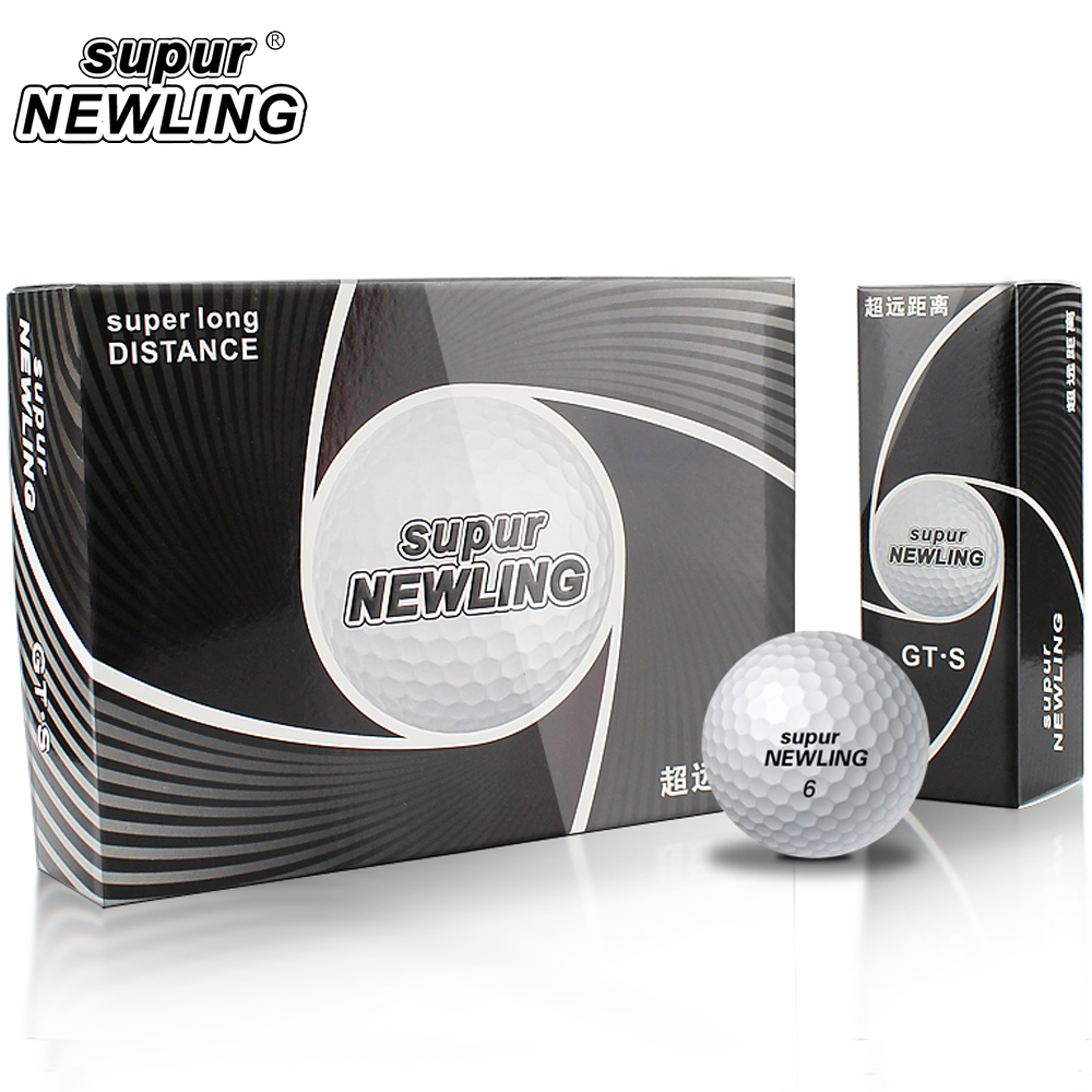 Supur Newling Golf Ball 3 Layers Supur Long Distance Golf Game Ball Pack Of 12 Pcs Balls