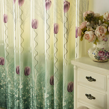 Modern Simple Style Printed Semi-shading Printing Curtains for Living Room and Bedroom Home Decoration Accessories