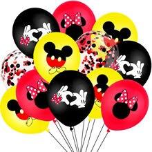 10 pçs mickey mouse festa de látex balões festa aniversário adulto decorações crianças globos cumpleanos infantil fontes do chuveiro do bebê