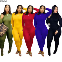 Fall Autumn Winter Women Jumpsuits Elastic Turtlerneck Full Sleeve Sexy Rompers Night Club Party Outfits One Piece Casual GLZ066