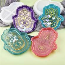 Palm Gericht Platte Ablage Silikon Form für DIY Harz Hand Von Fatima God'S Auge Kristall Epoxy Handwerk Handgemachten Schmuck werkzeuge