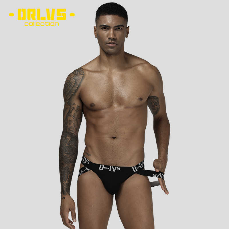ORLVS Merk sexy Mannen jockstrap mannen ondergoed sissy panties cueca tanga mannen thong g string mesh thong hombre OR211