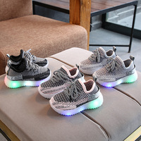 Kids Baby Knitted Weave LED Shoes Sneakers Lights Up Christmas Glowing Luminous Shoes kids shoes for girl baby boy sneakers