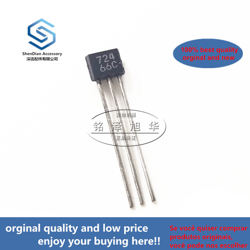 10pcs 100% Orginal New Best Qualtiy  2SC2724 Silk-screen 724 0.03A 25V  TO-92S Power Transistor