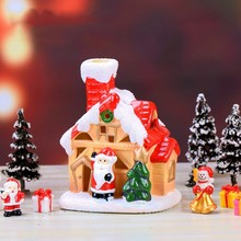 Christmas House DIY Resin Decoration Cute Unique Micro Landscape Household Crafts ZA
